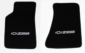 New Carpet Floor Mats 1982 2002 Camaro Z28 Embroidered Logo In Silver Pair