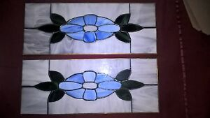 2 Vintage Leaded Stained Glass Windows Sale Shipping Included