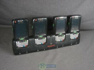 Lot Of 4 Honeywell Dolphin 9700 Handheld Barcode Scanners W 4 bay Dock