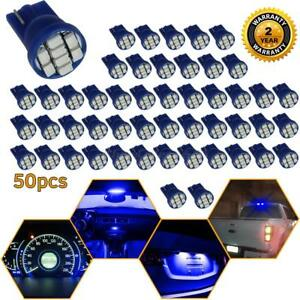 50x Blue T10 194 Led Clearance Corner Parking Backup Rear 3rd Stop Light Bulbs