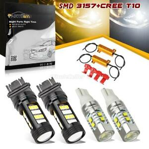 2set 3157 161 158 White amber Switchback Led Turn Signal Parking Light Bulbs