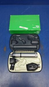 Welch Allyn Otoscope 25020a Opthalmoscope 11710 Rechargeable Handle 71050 c Case