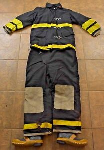 Globe Coat Pants Fire Fighter Turnout Gear Black Yellow Military Issue