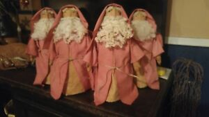 Primitive Decor Santa St Nick Christmas Handcrafted Stump Doll