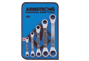 Offset Ratcheting Box Wrench Set 5 Pc 12 Point Laminated Armstrong Tools 27 635