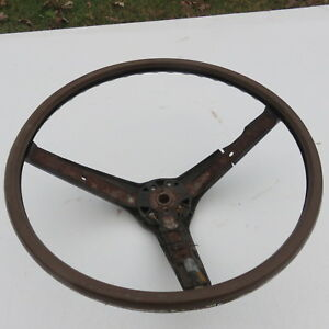 1969 Factory Mustang Shelby Cougar Deluxe Interior Wood Trim Blow Steering Wheel