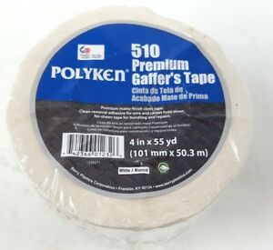 Industrial Gaffer s Tape 4 X 55 Yd 11 50 Mil Thick White Coated Cloth Q2