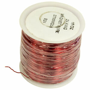 24 Gauge Enamel Magnet Wire 800 Feet 1 Pound Spool