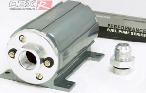 Obx Universal Gray External Electric Inline Fuel Pump Efi 45 Psi 2100 Hp 12an