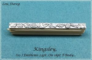 Kingsley Machine Type 10 emblems 24pt Hot Foil Stamping Machine