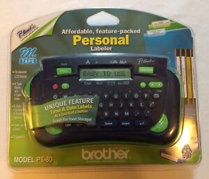 New Brother Model Bt 80 P touch Personal Labeler Label Maker Thermal Printer