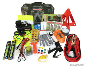 Blikzone Auto Roadside Emergency Essentials Kit 81 Pcs bonus Camouflage