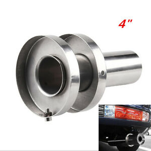 1x Insert Round Removable Tip Silencer For 4 Tip Stainless Exhaust Muffler B