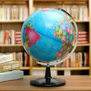 12 5 Large Rotating Globe World Map Earth Geography Educate Decor Class