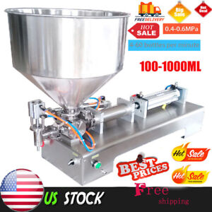 Hot 100 1000ml Automatic Filling Machine Honey cream cosmetic sauce tooth Paste