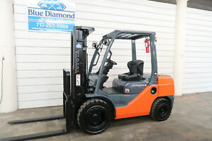2011 Toyota Forklift 8fdu30 6 000 Pneumatic Diesel Three Stage Sideshift