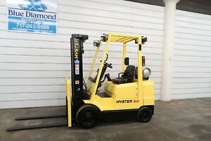 2001 Hyster Forklift S50xm 5 000 Lb Lift Lp Gas Three Stage Mast Mazda Engine