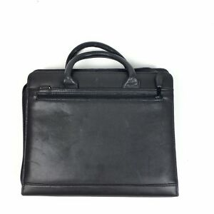 Classic 3 Black Leather Franklin Covey Quest Zip Planner binder No Binder Rings