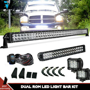 50inch 288w Curved Led Work Light Bar Combo Offroad Truck 18w 4 Spot 48 52