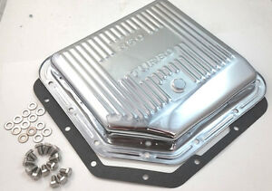 Chevy Chrome Th 350 Th350 Turbo 350 Transmission Pan W Gasket Bolts shallow