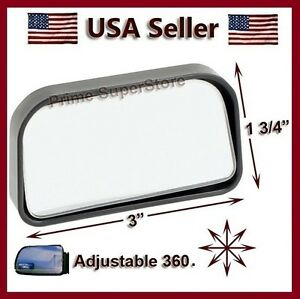 Adjustable Side Auxiliary Blind Spot Wide View Mirror X Small Rearview Car Truck