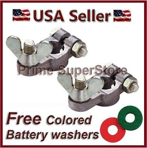 Marine Boat Battery Terminal Heavy Duty Top Post To Pin Conversion Pair Washers