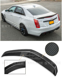Eos For 16 19 Cadillac Cts v Carbon Fiber Package Rear Trunk Lid Spoiler Wing