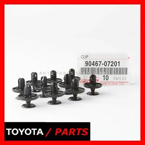 Factory Toyota Engine Under Cover Fender Radiator Clips 9046707201 Set 10 Oem Fits 2010 Toyota Corolla