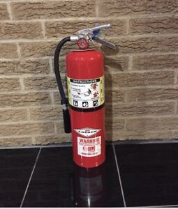 Refurbished 10lb Abc Fire Extinguisher nice With New Certification Tag