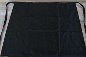Chef Works Skirt Waist Apron Lot 39x30 In Waiter 2 Pockets Black Thick Ties