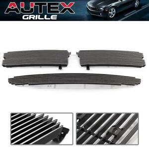 For 1997 2004 Dodge Dakota Autex Chrome Billet Grille Grill Insert Combo 3pcs