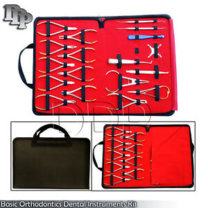 Basic Orthodontics Dental Instruments Set 18 Pcs Composite Kit Premium Dn 2123