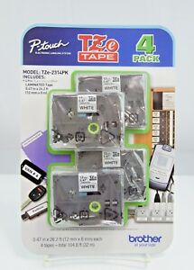 Brother P touch Tze Tape 4 pack Model Tze 231pk