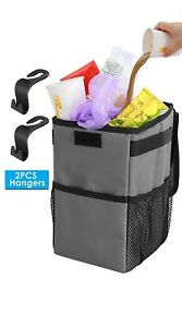 Car Litter Trash Bag Garbage Leakproof Can Auto Bin Top Covered Storage Portable