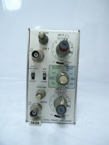 Tektronix 7a26 Dual Trace Amplifier Plug in For 7000 Series Oscilloscope Great