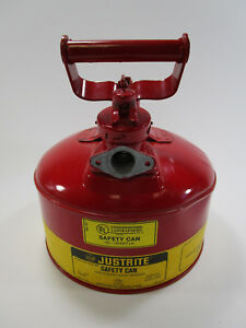 Justrite Safety Can 1 Gallon One Gasoline Gas