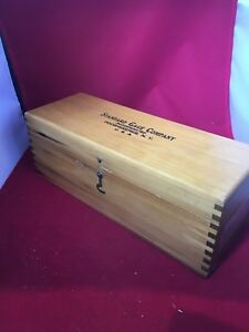 Standard Gage Company Dial Bore And Snap In Wood Box No 5 Advertising Empty