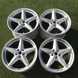 18 Ferrari Modena Wheels Oem Rims Silver Factory Genuine Rims Bbs Spider
