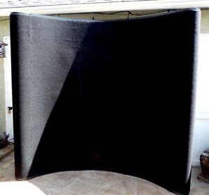 8 Pop Up Trade Show Exhibit Display Booth Frame Stand Wall Curved Black Panel