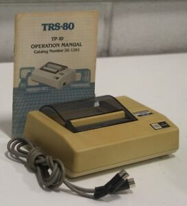 Vintage Radio Shack Printer Trs 80 Tp10 Thermal Printer In Box Cables Manual