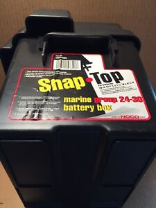 Noco Snap Top Marine Battery Box Groups 24 30 Hm318bks