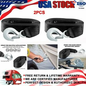 2pcs Deluxe Boat Trailer 2 X20 Replacement Winch Strap With Snap Super Hook Us