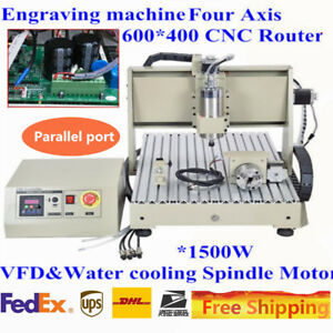 400hz Spindle Machine Parallel Port 1 5kw 4 Axis 6040 1500w Cnc Router Engraver