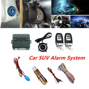 1set Car Suv Alarm System Security Keyless Entry Push Button Remote Engine Start