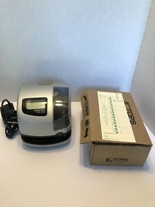 Amano Model Pix 55 Time Clock Tested Working With 500 Time Cards no Key