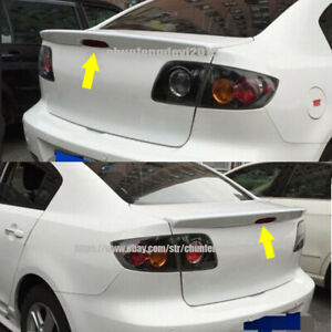 1pcs Rear Trunk Boot Wing Spoiler Fit For Mazda 3 M3 2008 2012