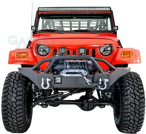 Rock Crawler Extreme Hd Front Bumper winch Plate For 97 06 Jeep Wrangler Tj