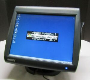 Micros Workstation 5 400814 021a Pos Touchscreen System Unit Terminal Windows Ce