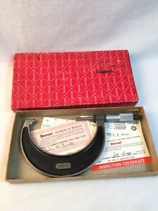 Rare Starrett 3 4 Outside Micrometer No 226rl With Braille Thimble Scale