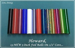 Howard Personalizer 13 New Foil Rolls On 1 2 Core Hot Foil Stamping Machine